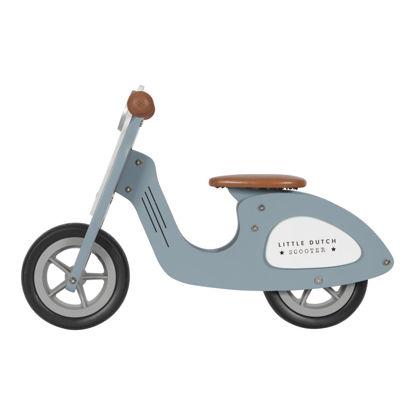 Holz Laufrad Roller - blue