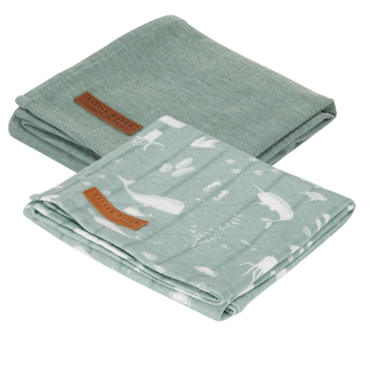 Swaddle Tuch 70 x 70 - Ocean Mint / Pure Mint