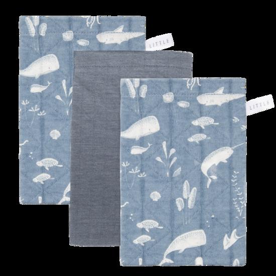 Softe Baby-Waschlappen  - Ocean Blue
