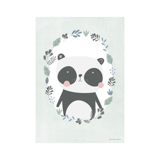 Bild von Poster A3 Panda Mint