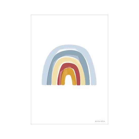 Bild von Poster A3 Regenbogen/ABC blau