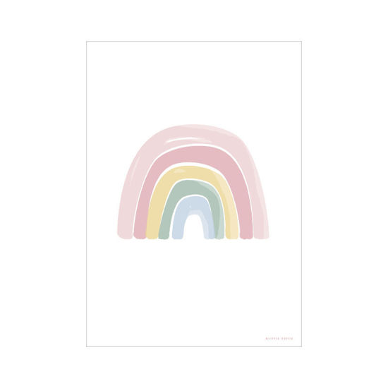 Bild von Poster A3 Regenbogen/ABC pink