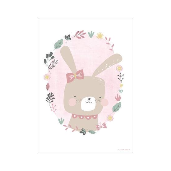 Bild von Poster A3 Hase Pink