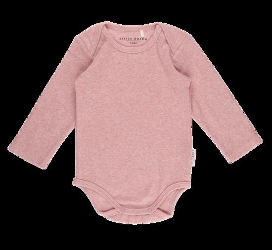 Bild von Body langen Ärmeln melange rosa - 74/80