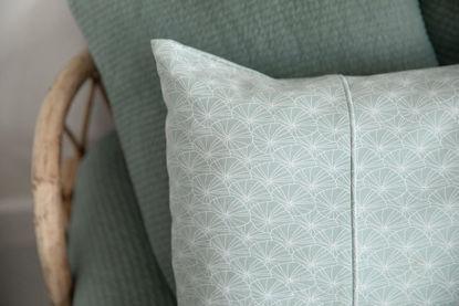 Bild von Kissenbezug 80x80 - Lily Leaves Mint