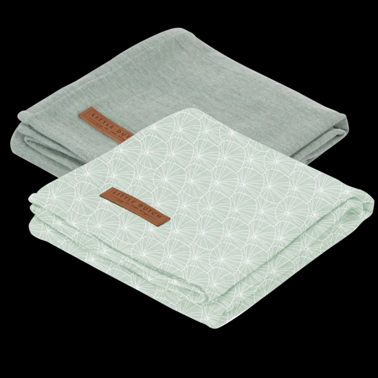Bild von Swaddle Tuch 70 x 70 - Lily Leaves Mint / Pure Mint