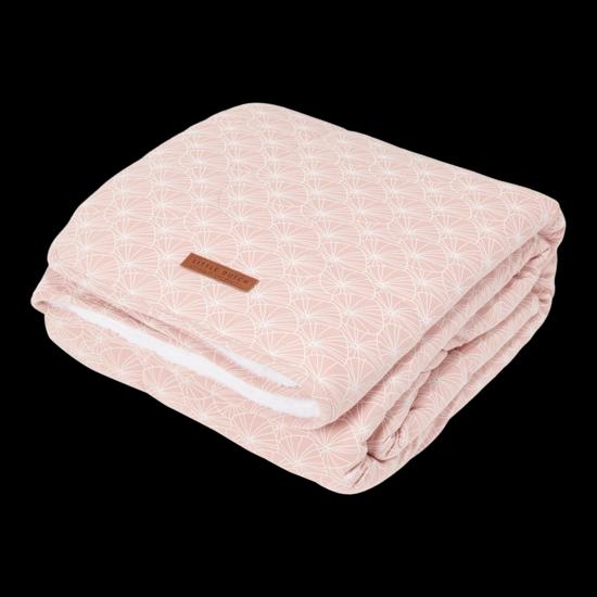 Bild von Softe Baby & Kinderdecke - Lily Leaves Pink