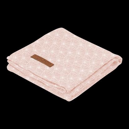 Bild von Swaddle Tuch 120 x 120 - Lily Leaves Pink