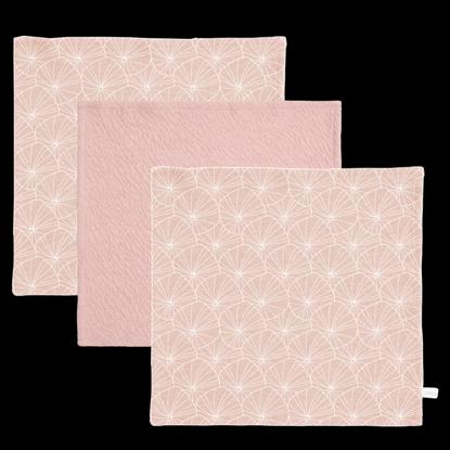 Bild von Baby Mulltücher  - Lily Leaves Pink / Pure Pink