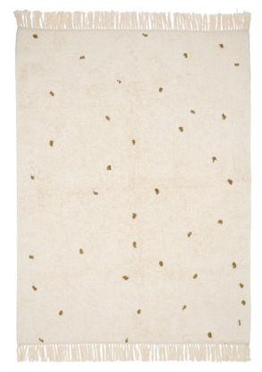 Bild von Teppich Pure natural/ olive dot 170x120cm