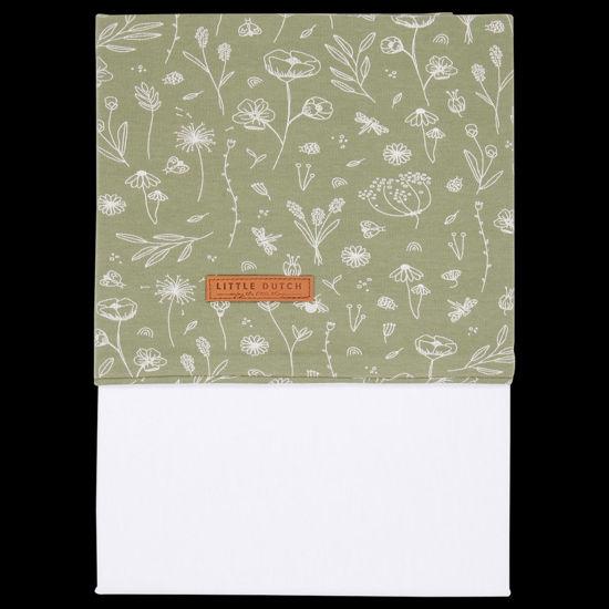 Bild von Kinderbettlaken Wild Flowers Olive