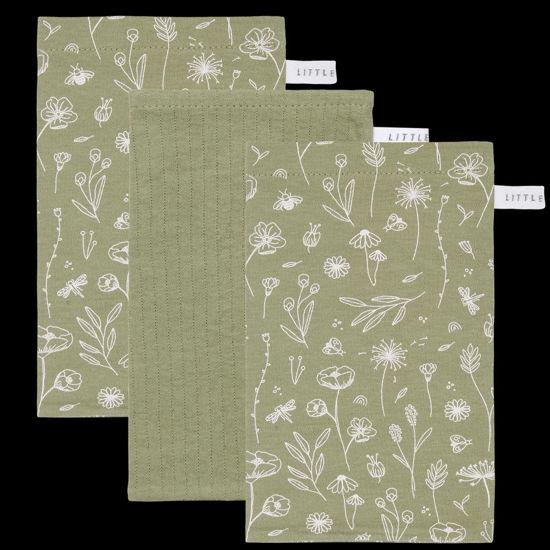 Bild von Waschhandschuhe Set Wild Flowers Olive