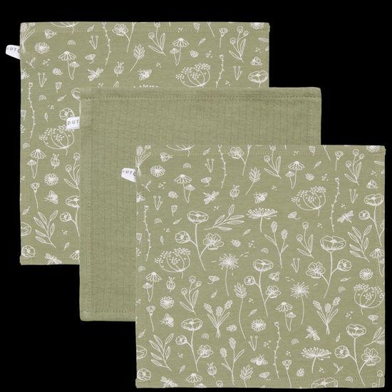 Bild von Mundtücher Wild Flowers Olive / Pure Olive