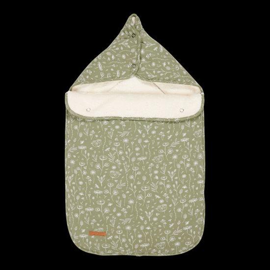 Bild von Babyschalen-Fußsack 0+ Wild Flowers Olive