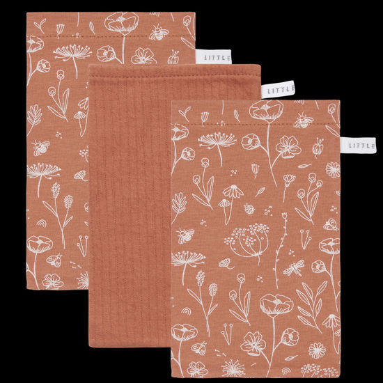 Bild von Waschhandschuhe Set Wild Flowers Rust