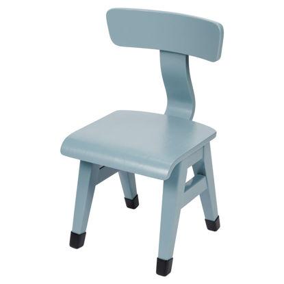 Bild von Stuhl blau